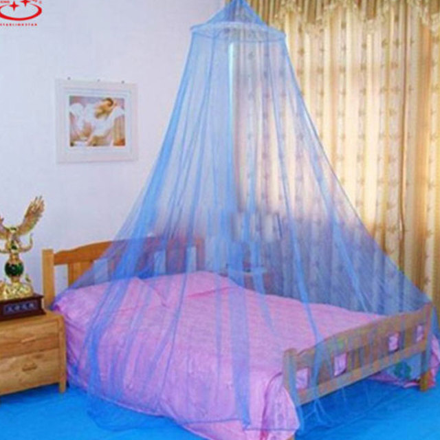 1 stuk blauw zomer anti muggen garen koepel opknoping prinses ...