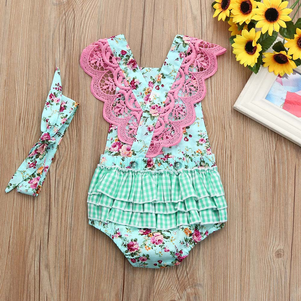 Practical Baby Girl Romper 9-12 Months Strawberry Print Summer Playsuit Girls' Clothing (newborn-5t)