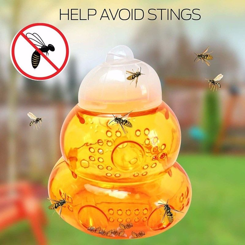 Bee Catcher Beehive Wasp Trap Hornets Yellow Jackets Wasp Repellent Hornet Trap Wasp Hornet Hanging Traps Killer Home Garden