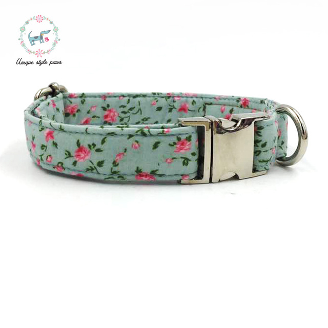 Rose Floral Collar and Leash Set with Bow Tie 4