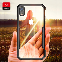 Original Luxury Transparent Soft Silicone Case For iPhone Xr X Xs Max 11 Pro Phone Shockproof 360 Full Protective Back Cases