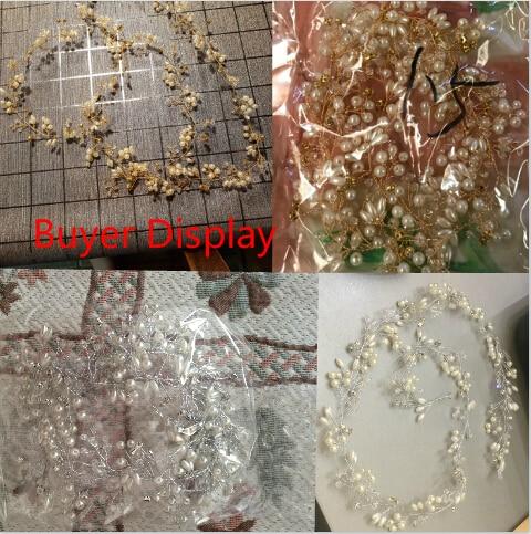 Lujo plata oro perla cristal nupcial diademas corona tocado - Bisutería - foto 6
