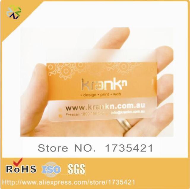 1000 Pcs Lots CMJN Impression Standard Taille Givre En Plastique Nom Carte De Membre