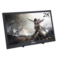 10.1 inch LCD IPS Screen 2K HD Monitor 2560*1600 Resolution Portable Display with Mini HDMI USB Port for PS3/PS4 PC Gaming