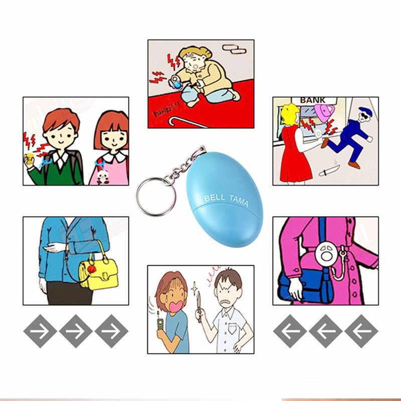 KERUI Pertahanan Diri Alarm 120dB Telur Bentuk Gadis Wanita Keamanan Protect Alert Keselamatan Pribadi Berteriak Keras Gantungan Kunci Alarm Darurat