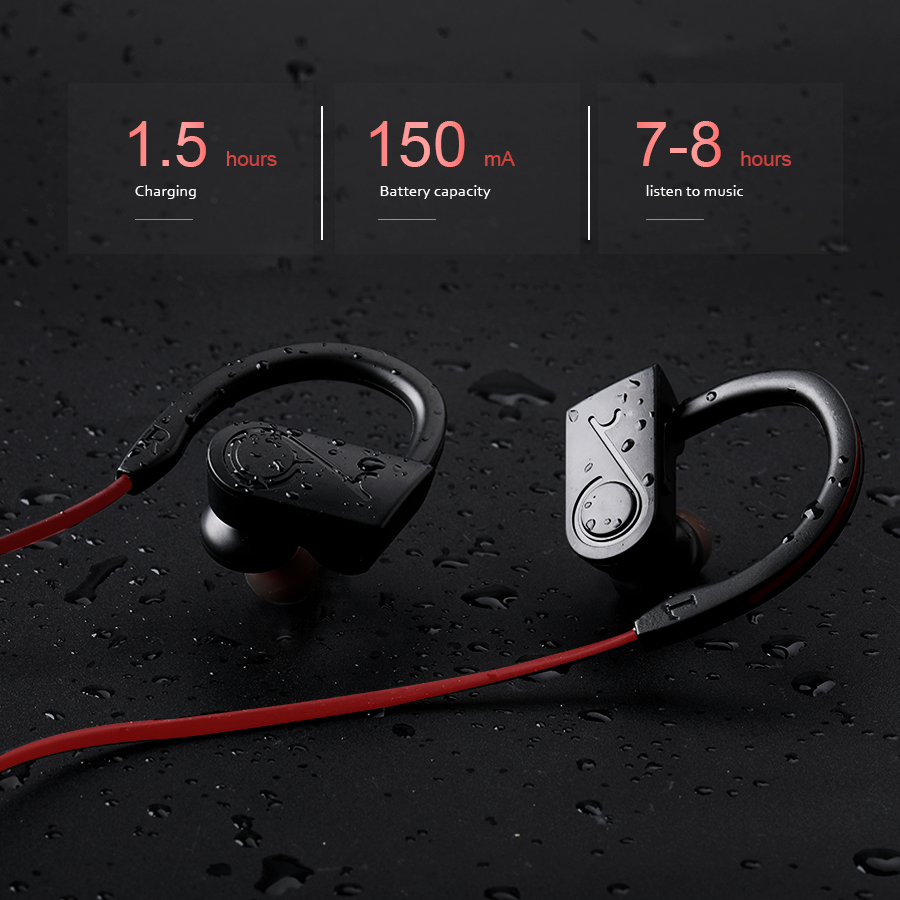 New Sports Wireless Headphones Bluetooth Earphones With Mic Noise Cancelling Bass Bluetooth Headset For Phone remax wireless music bluetooth headphones headset with hd mic noise cancelling hifi sound 3d stereo bass for music phone