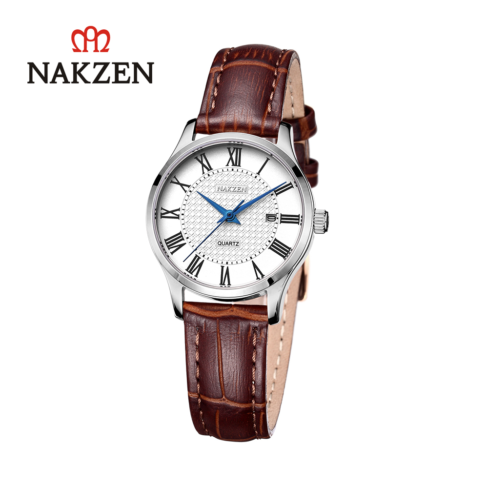 NAKZEN fashion Roman digital quartz waterproof belt womens watch SL4043LNAKZEN fashion Roman digital quartz waterproof belt womens watch SL4043L