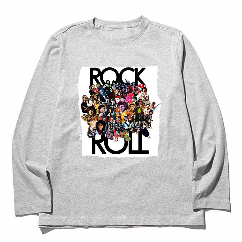 Король рок-н-ролла Элвис Пресли с длинными рукавами футболка для мужчин и женщин размер тяжелых чесаный полный одежда с длинным рукавом Фут...