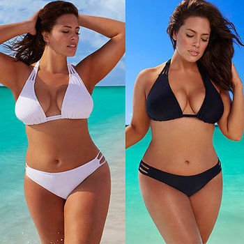 L-4XL,2016 Hot Plus Size Bikini Set Low Waist Push Up Big Size Swimsuit Swimwear Large Size Bikini Tocas Feminina Bathing Suits 1