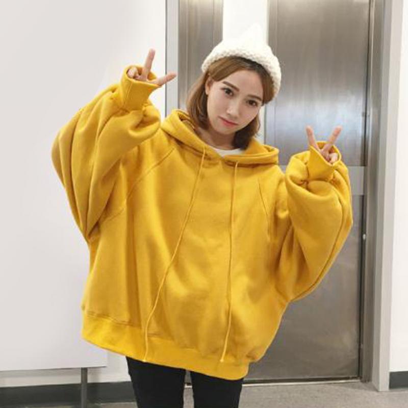 Long Sleeve Female Spring And Autumn Hooded Lantern Sleeves Loose Student Hoodie Women Hoodies Sweatshirts Harajuku Hip Tops