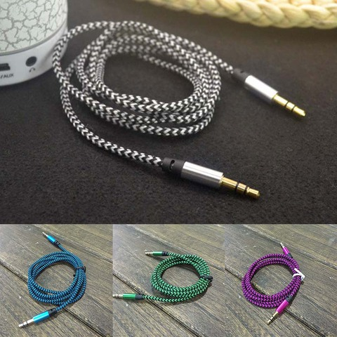 1M Audio Cable Braided 3.5MM Jacks Male To Male Audio Cable AUX  Plug For Mobile Phone MP3 Player Speakers Islamabad