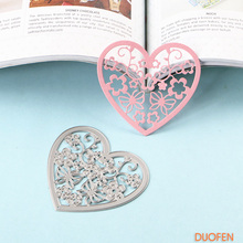 DUOFEN 2018 New heart and love metal Cutting Dies Stencils for DIY Scrapbooking stamping Die Cuts Paper Cards craft knurling die