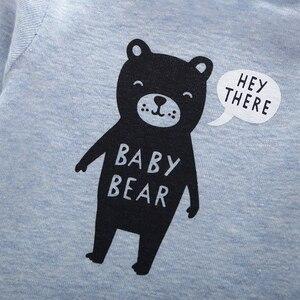 Image 5 - long sleeve cartoon bear bodysuit for baby boy girl clothes cotton unisex newborn body Infant bodysuits 2020 fashion costume