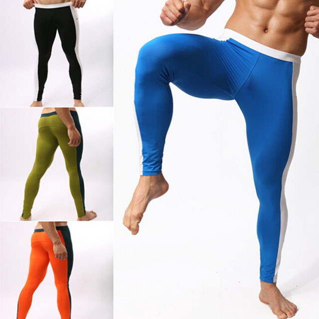 18bb812d4386 Clearance Compression Tights Trousers High Elastic Fitness Sport Men  Training Running Gym Sweat Uptake Pants Mens Clothing