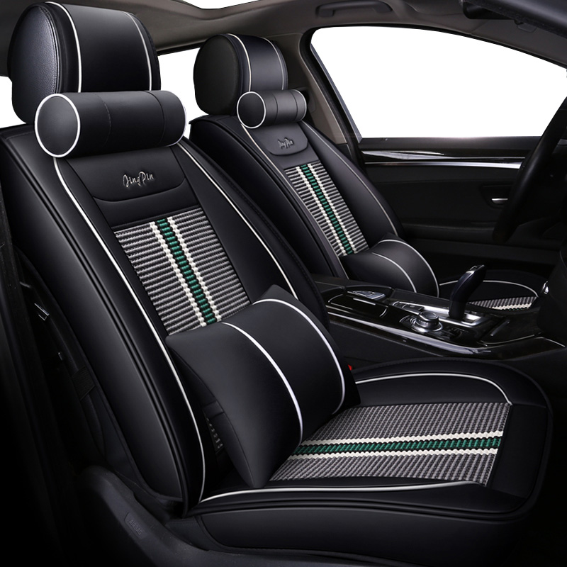 Luxury leather ice silk universal car seat cover for Peugeot 307 206 308 407 207 406