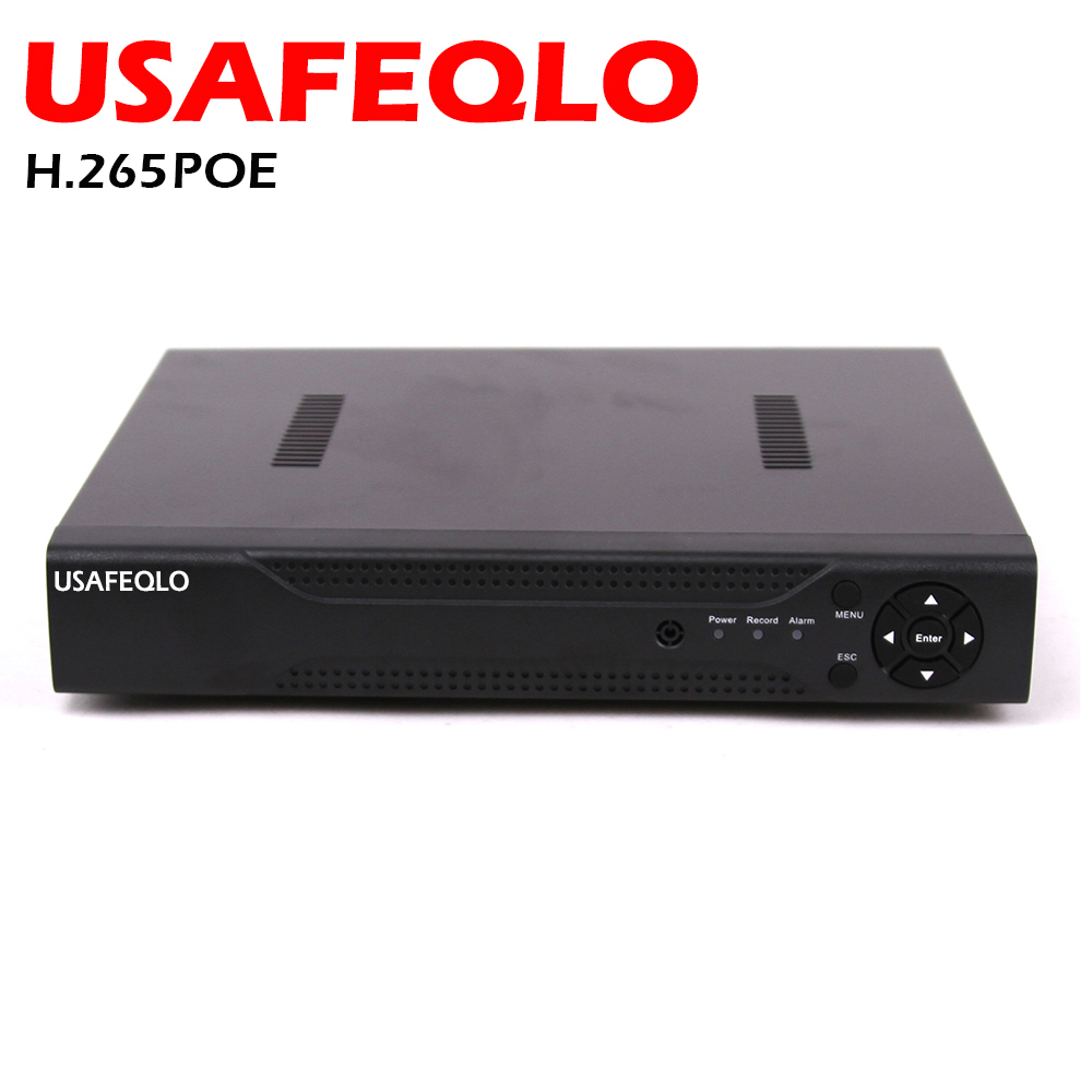 ONVIF FTP Motion Detection Max 4K HI3798 H 265 PoE NVR 4CH 5MP 4 PoE Ports