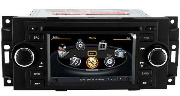 5 Car DVD GPS Headunit SatNav for Chrysler 300C  PT Cruiser Dodge Ram Jeep Grand Cherokee bluetooth Radio Tape Recorder wifi chrysler pt cruiser 2 0 i 16v
