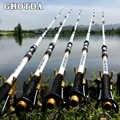 GHOTDA Neue Design Weiß Spinning Angelrute FRP + Carbon Fiber Teleskop Angelruten 2,1-3,6 M