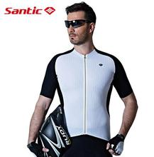 Santic Men Cycling Short Jersey Extreme Fit Imported Water Diffusible Fabric Road Bike Sleeve Top M7C02101