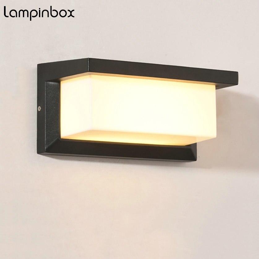 10W/15W Outdoor Wall Lamp Waterproof LED Wall Lamps IP65 Aluminum Modern Wall Sconce Courtyard Garden Corridor Porch Lights LP06