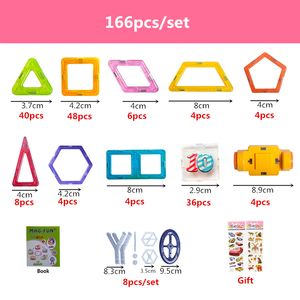 Image 3 - 100 312pcs 20 שילובים שונים של מגנטי מעצב בלוקים בנייה סט דגם & בניין צעצועי פלסטיק בלוקים עבור ילדים