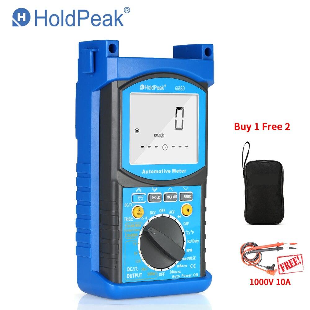 HP-6688D 6688D Automotive Motor Analyzer Multímetro Digital 1000 V 20A Resistência Capacitância Diode Tester Voltímetro Amperímetro