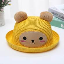 Casquette Enfant Garcon Baby Hat Panama Children Anti-UV Sun Protection Straw Hat Funny Bee Ears Kids Visor Caps Drop Shipping c(China)