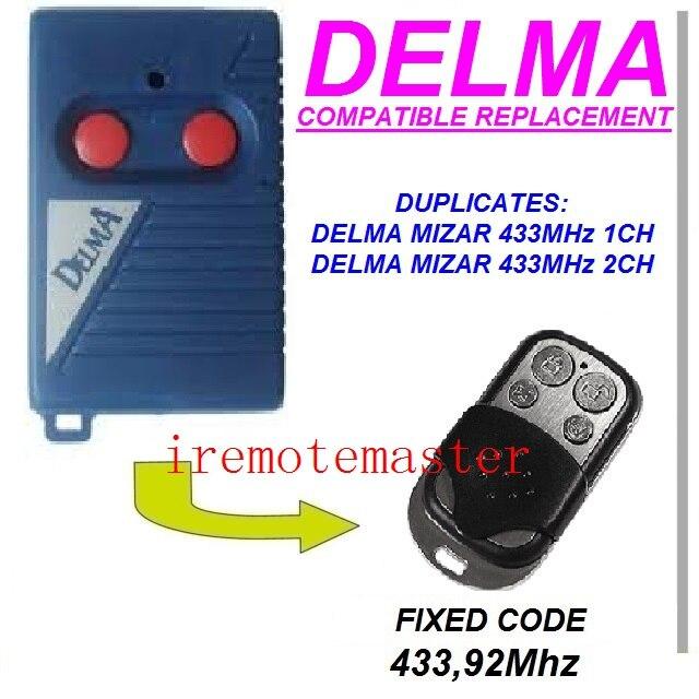 Replacement remote for DELMA mizar 433mhz 1/2ch free shipping alltronik replacement remote s429 1 433mhz s429 2 433mhz s429 4 433mhz s429 mini 433mhz