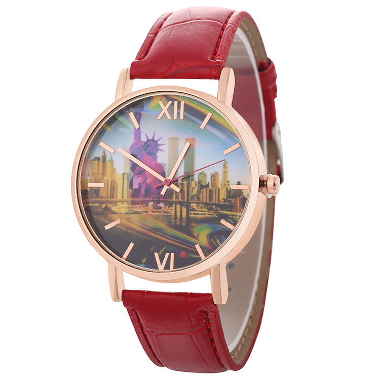 все цены на Fashion New Style Watch Women PU Leather Watches Lady Classic Analog Quartz Wrist Watch Women Clock онлайн