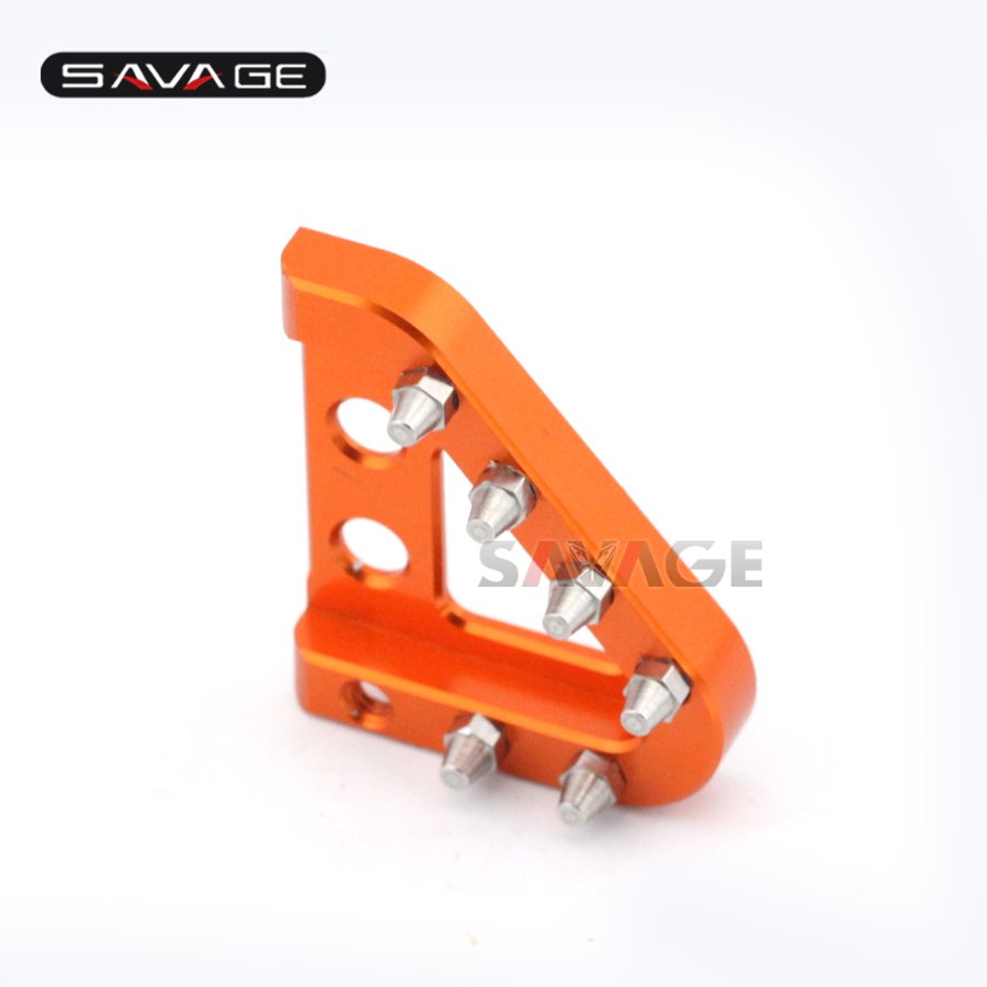 Motorcycle Stainless Steel Cleats Rear Brake Pedal Step Tip For KTM 690 950 990 SMT ADV/S/R Supermoto Enduro R DUKE SMC SMC-R