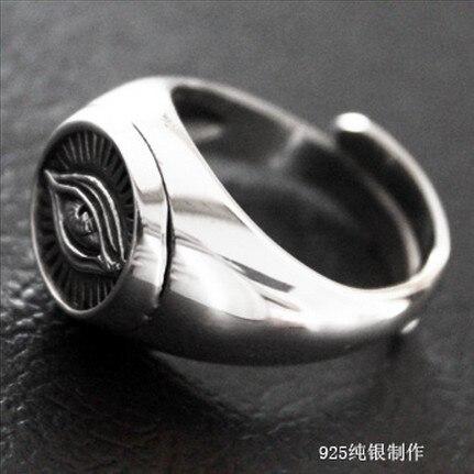 Handmade 925 Silver Heaven Eye Ring vintage thai silver wisdom eye ring pure silver jewelry ring gift 925 pure silver ring spirally wound flower rose thai silver ring vintage ring flower ring