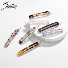 JOOLIM Jewelry Wholesale/7 Colors Cutout Resin Hair Pin On Trendy