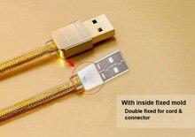 Оригинал Remax 5 В/2.1A Высокая Гарантия Качества Золотой Кабель Micro Usb для Samsung Xiaomi Huaiwe Meizu & все Micro USB Телефон кабель