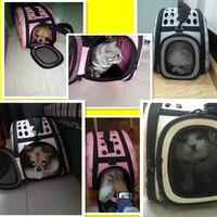 Домашние животные кошка сумка Кот плеча ручка, сумка для переноски щенок мелких пород собак рюкзак сумка PDBAG06