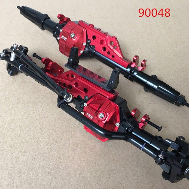 CNC Alloy Metal Front Rear Axle Bridge for 1/10 AXIAL WRAITH RR10 90048 Rc Rock Crawler Upgrade Car mxfans 23 pieces alloy upgrade set spare parts for rc 1 10 axial rock crawler