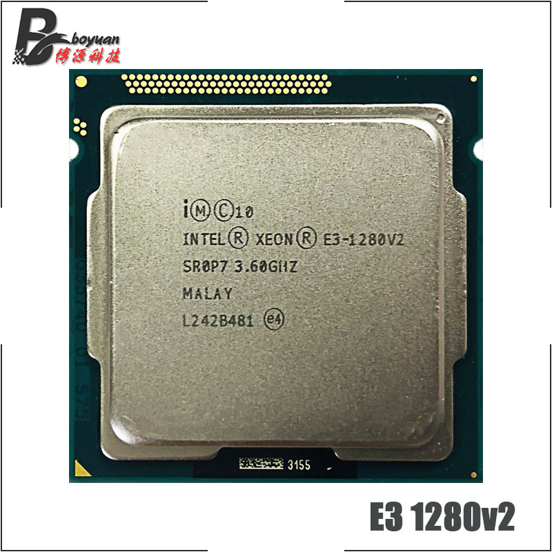Intel Xeon E3 1280 v2 E3 1280v2 E3 1280 v2 3 6 GHz Quad Core Eight