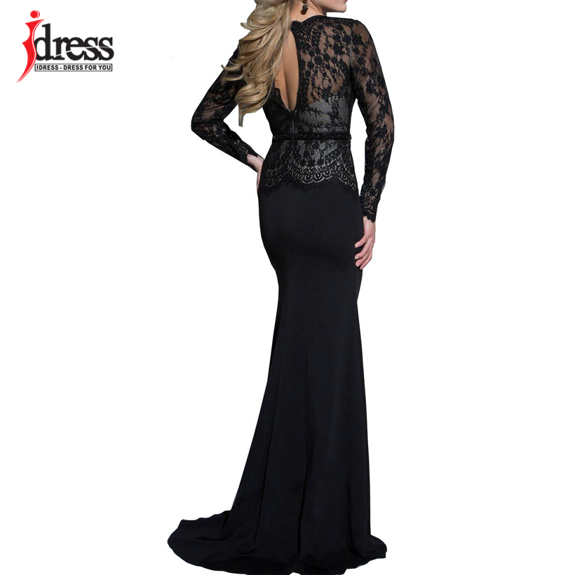 IDress New Sexy Lace Vintage Mermaid Elegant Long Maxi Dress Formal Party Women Gown Special Occasion Dresses 2018 Vestido Longo (3)