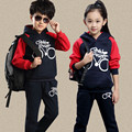 boys clothing set Children's Clothing Sets New Autumn Hooded Child Sport Suits Big Girl & Boy Tops + Pants Sets 4 6 8 10 12 year