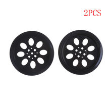 "Rubber Hub Hole Wheels Tire Model Accessories For Line Patrol Car Smart Car Robot For 360/180 degree servo""MG995, MG945 ect""(China)"