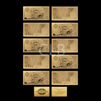 Wholesale Thailand Gold Plated Banknote Gift 10 Baht Collectable Thailand Gold Paper Money with Certificate Card for Souvenir