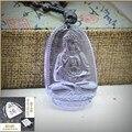Yumten Cristal Natural Ametista Colares Pingente de Colar de Jóias Mulheres Homens Buda Buda Figura Belas Colares Da Moda 30mm * 50mm