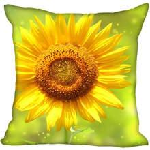 Sunflower Pillowcase 40x40cm Home-Decorative Modern for Living-Room 45x45cm
