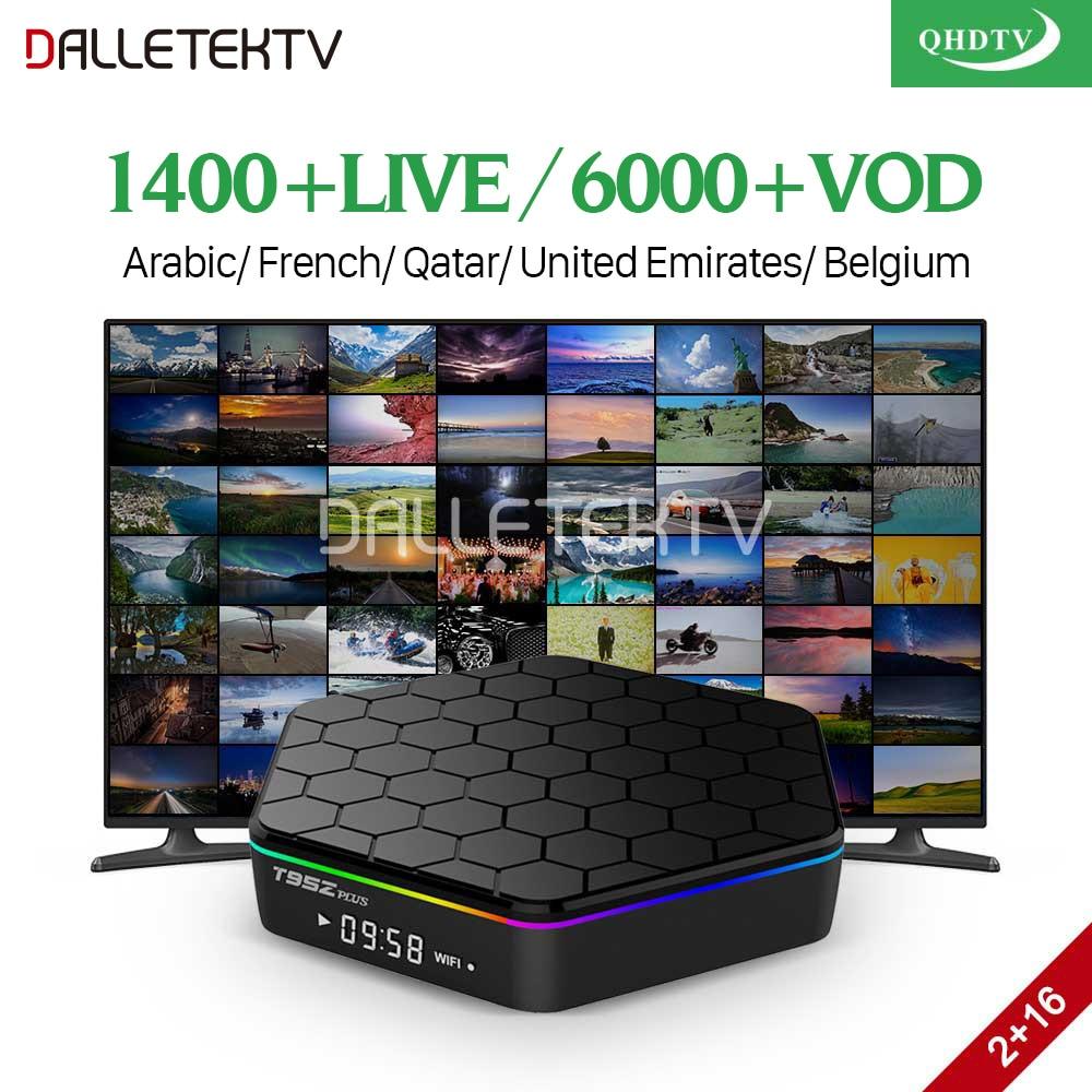 T95Z Plus IPTV Franciaország Arab doboz Andorid 7.1 2 GB RAM 16 GB ROM S912 Octa alap WiFi 4K TV vevő IPTV Franciaország Arab Belgium IPTV