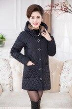 Coats Middle-aged Brand winter jacket women Thicken Warm Cotton-padded Slim Female Plus Size Fur Collar winter Coat Women Parka  цены онлайн
