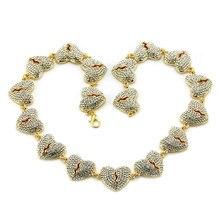 1PC Street fashion hip hop alloy shiny love necklace Domineering cool broken heart item pendant
