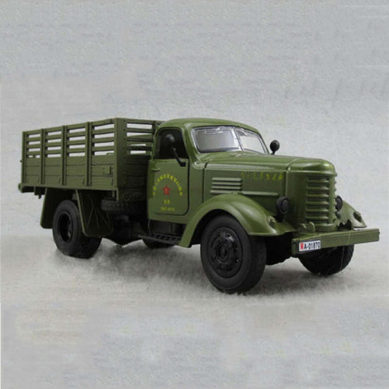 1:32 Scale Jiefang Military Diecast Truck Model With Light Sound And Army Car Green Truck Miliary Model Children Toy