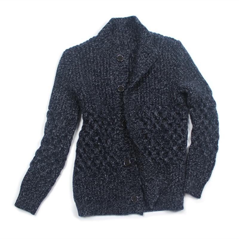 100% ручная работа Коза кашемир клип пряжи вязать мужчины средней длины свитер; кардиган; пальто добавить толстые однобортный фасон M XL Рознич