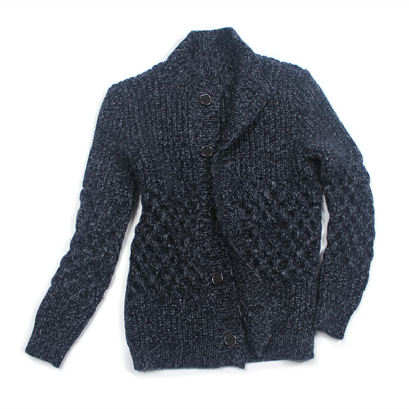100% Hand Made Goat Cashmere Clip Yarn Knit Men Mid Long Cardigan Sweater Coat Add Thick Single Breasted M-XL Retail Wholesale