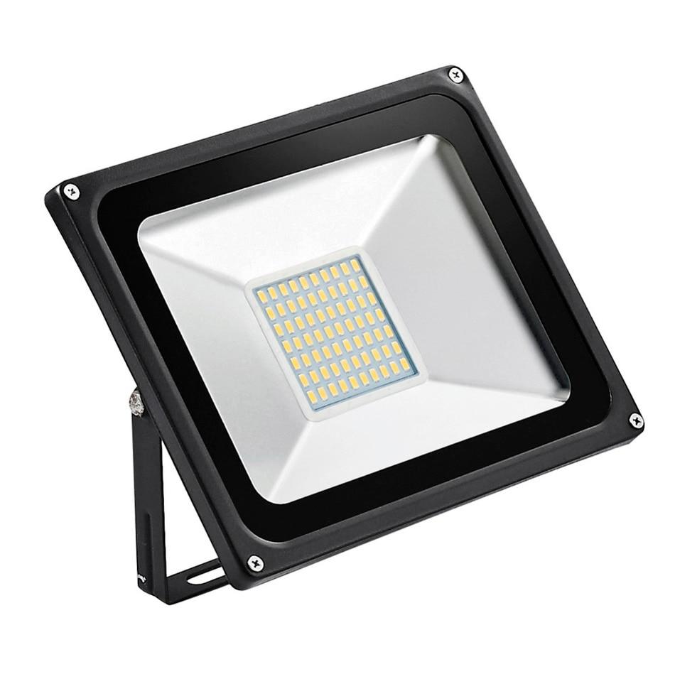 ФОТО 1PCS wholesale LED Floodlight 50W IP65 AC220V Waterproof Cold white/warm white Garden Light Exterior Spotlight LED Street