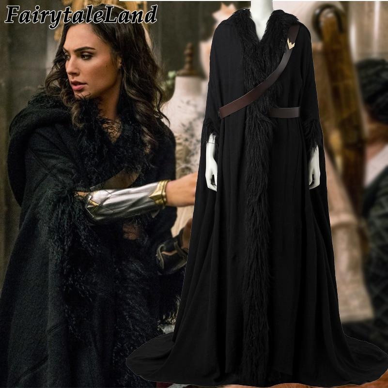 2017 Wonder Woman Diana Prince cosplay cloak Halloween costumes Movie Wonder Woman costume coat superhero clothing custom made